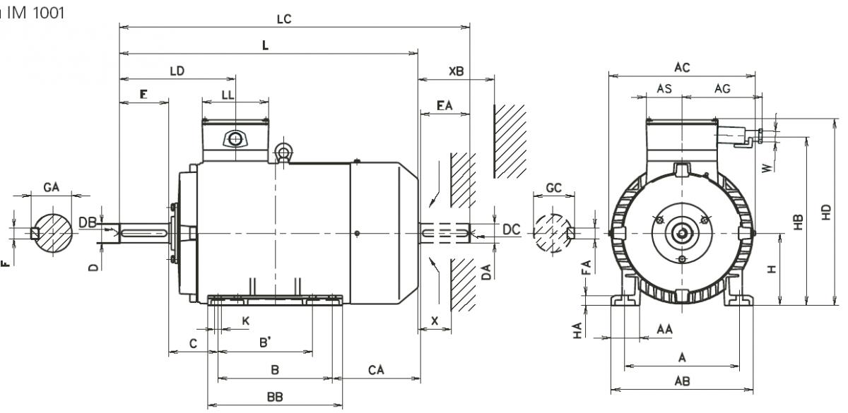 Схема подключения двигателя 4аам56в4у3
